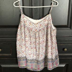 Skies are Blue lined sleeveless blouse